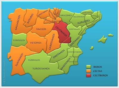 Mapa pueblos prerromanos
